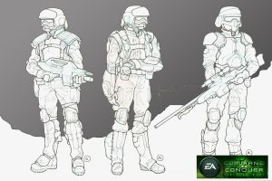 GDI Soldier Concepts by HK-887
