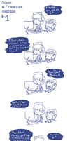 Freedom And Ocean comics by Ask-Olive-And-Oliver
