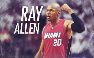 Ray Allen Miami Heat Wallpaper by drgraphic