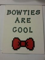 Bowties Are Cool Perler Canvas by CraftinNerdy
