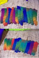 Felted Bookmarks for Anti-Lent by woozalia
