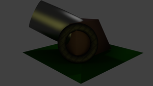 3D Cannon by sorrowscall