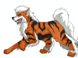 Arcanine~ by Saixpuppy222