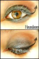 Pokemon Makeup: Houndoom by Steffmiesterx13