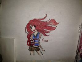 sketch from a few years ago /first drawing of Rose by shellanime