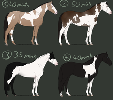 Paint Horse point adopts - CLOSED by Nuklear-Bunnies