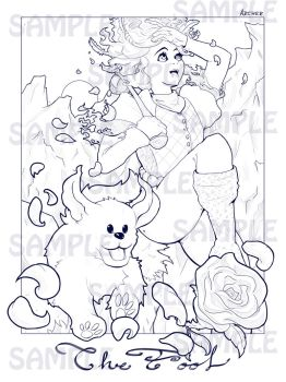 Tarot: The Fool Coloring Page by ArcherKasai