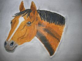 Horse in Oil 02 by Mikla-9