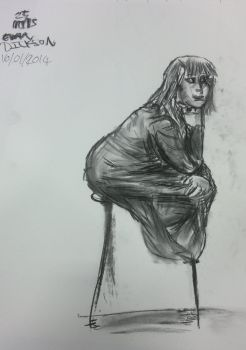 Life drawing: Charcoal - 25 minutes - 2nd by YONDER000