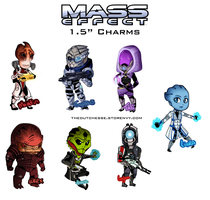 Mass Effect charms! by TheDutchesse