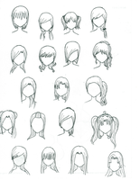 Anime Girl Hair by AnimeFreak493
