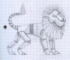 Robot Lion thingy by InfernoKat