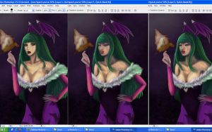 WIP Morrigan by daliciously