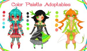 Color Palette Adoptables ~ [COMPLETED] by Evehist