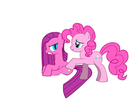 Pinkie Pie and Pinkamena by BrisaFluttershy