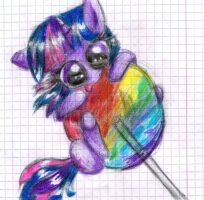 Twilight Found a Lollipop by VickyCupcake