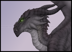 Green Eyed Dragon by Gul-reth