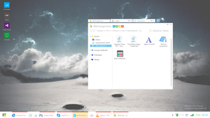 Microsoft Windows Pure - User interface concept by ShinDatenshi