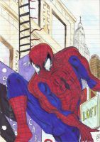 Spider-man in the City by danlewis4475