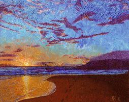 Maui Sunset by jfkpaint
