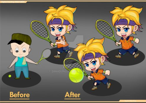 Chibi Tennis by DinhDung92