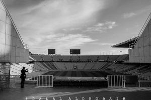 Olympic Stadium in Barcelona by 0Dalal0