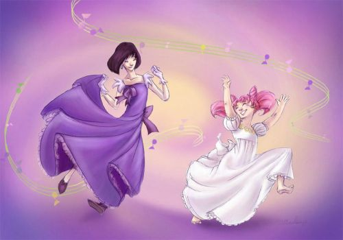 Sailor Scouts - Dance by perishing-twinkie