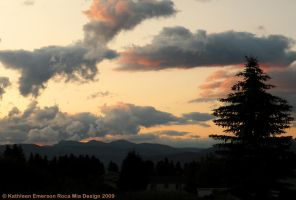 Big Mountain Sunset by rocamiadesign