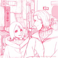 Hidan x Konan: Before the holiday- Sketch by Alena-sempai