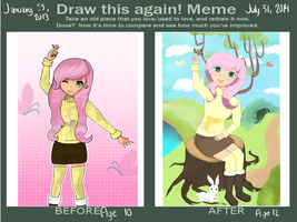 Draw This Again Meme Fluttershy by MissSassClass