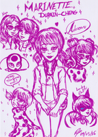 Miraculous Ladybug Marinette doodles by RokxMcShadow
