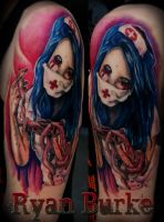 Zombie Nurse tattoo by filthmg