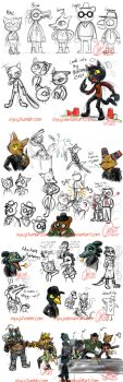 Night In The Woods-doodle dump by InYuJi