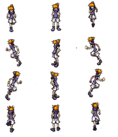 RPG Maker VX Ace Sprite Sheet - Neku Sakuraba by twewy1
