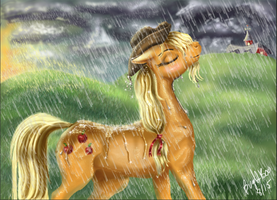 Rain is a good thing (colored) by BugABooStreak