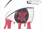 Sasuke's Amaterasu Pen-Work by Nekokan-L