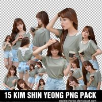 15 Kim Shin Yeong PNG Pack - By cookie by cookiechanie