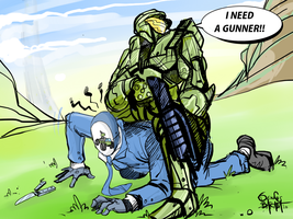 Spy vs Master Chief by NoBullet