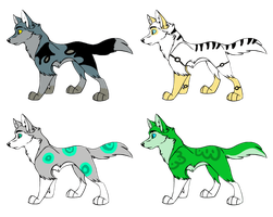 Wolf Adoptables .:Open:. by Love-Adopts