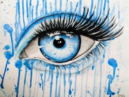 Blue Drippy Eye. by Darxen