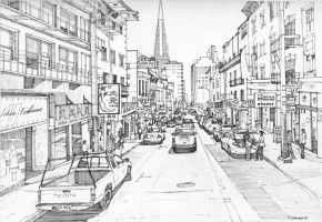 Clay Street, San Francisco by Edgeman13
