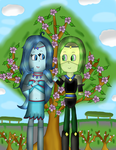 Art Trade:Lynae And Beryl's Special Moment by MyMelodyOfTheHeart