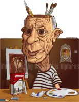 Pablo Picasso by diplines