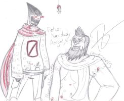Feliz Navidad From The Assassin and The Gunzerker by Dreamer-Of-Ravens