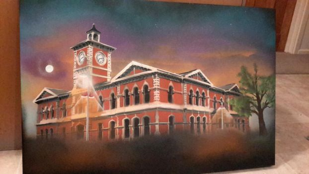Christchurch Cheif Post Office, New Zealand by OpserStencils