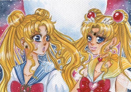 ACEO #14 -15: Always together by Dar-chan