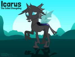 MLP OC - Icarus The Changeling by MysteryEzekude