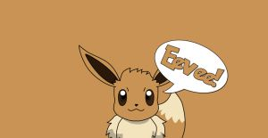 Simple Wallpaper: Eevee! by TechEve