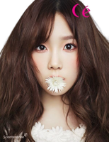 Snsd Taeyeon for CeCi Bloom render png by poubery