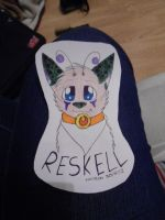 Reskell fursuiting badge example by Lockian